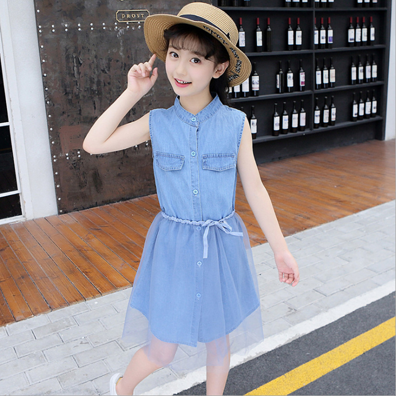 2018 New Fashion Girls Dress Teenager Jeans Summer & Casual for Clothing