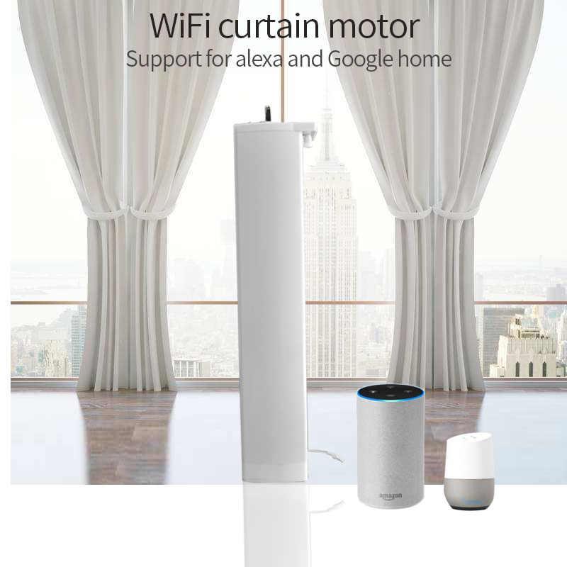 Wifi Electric Curtain Motor Ewelink App Remote Control Vioce