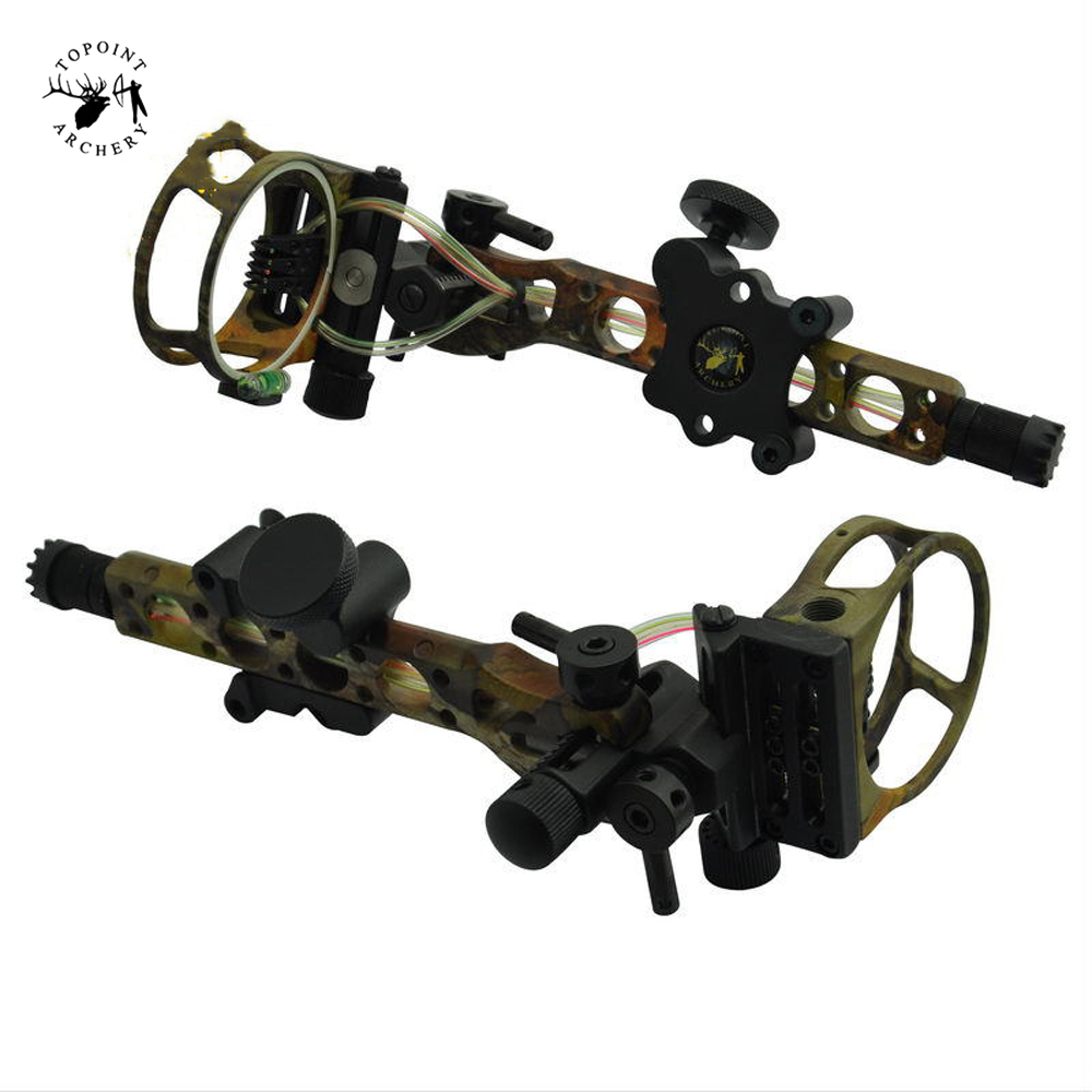 Compound Bow Sight 7 Pins 0.019 with Micro Adjust Detachable Bracket Sight TP7570-CAMO for Compound Bow Hunting Archery new arrival sight adjust tool for 7 62 sks design best quality front sight tool for hunting shooting