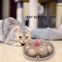 Funny Interactive Cat Toys with 2 Colors Replace Electric Rotating Feathers