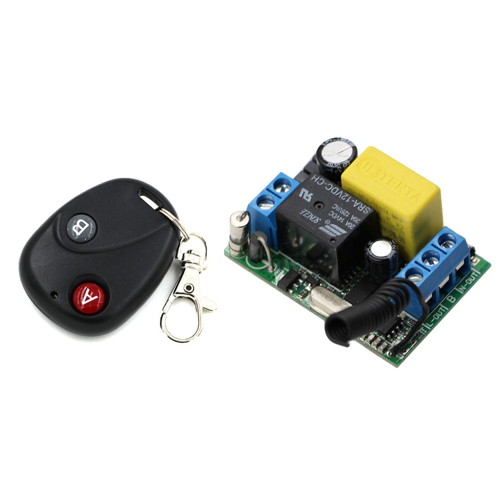 AC 220V Wireless Remote Control Switch Radio Control Switch Remote ON/OFF 1CH 10A Relay Module Receiver Transmitter PT2262 2260 small relays wireless rc switch button signal line on off dc3 7 5v 12v controller remote control module