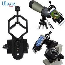 Microscopio universale del telefono Mobile dellobiettivo di macchina fotografica del Telescopio fotografia Stand Adattatore Per il iphone Samsung xiaomi collegare supporto Del Telefono