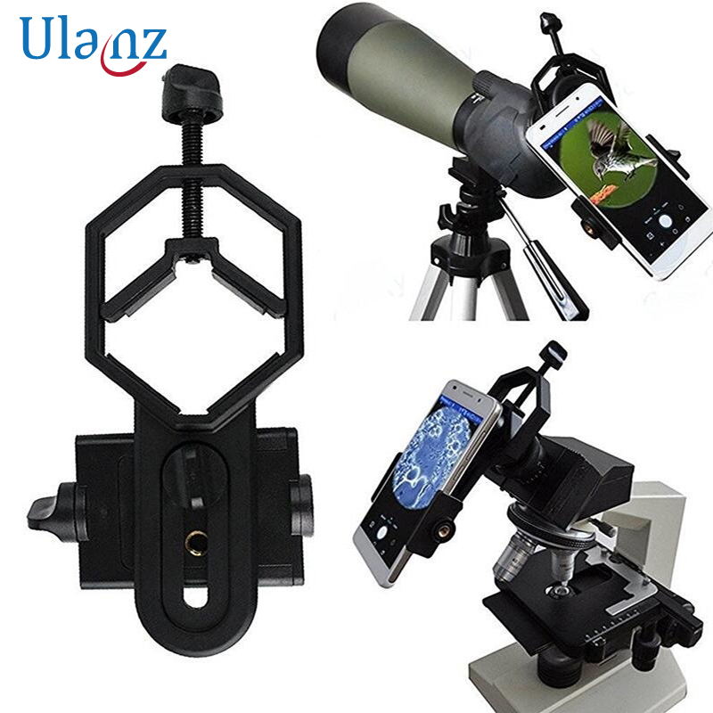 Universal Microscope Telescope camera lens Mobile phone photography Stand Adapter For iPhone Samsung xiaomi attach Phone holder universal cell phone holder mount bracket adapter clip for camera tripod telescope adapter model c