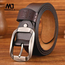 MEDYLA High Quality Cow Leather Belt For Men Fashion casual