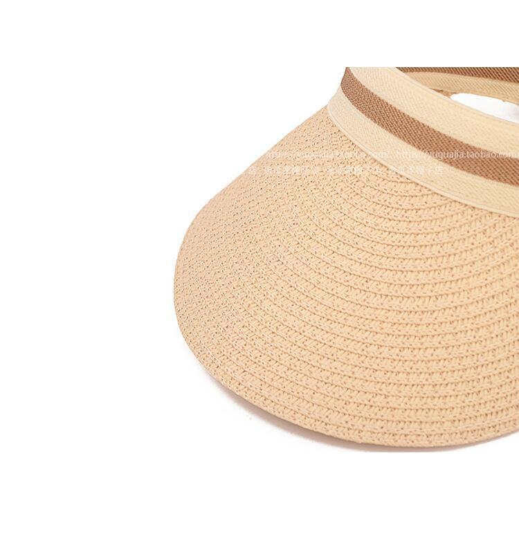 Cute Bow Sun Hat Female Beach Hat Wide Brim Straw Visor Hat Cap Summer Hats For Women Caps Chapeau Femme Sun Visor Girls in Men 39 s Sun Hats from Apparel Accessories