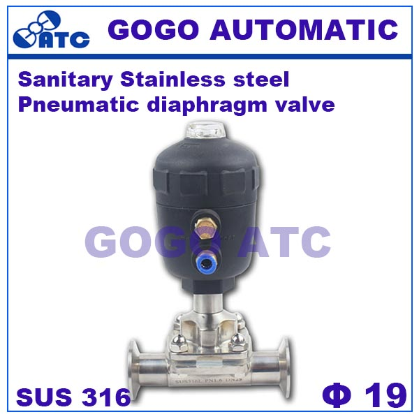 Sanitary stainless steel 316 O D 19 mm Quick install pneumatic diaphragm valve G681 quick opening