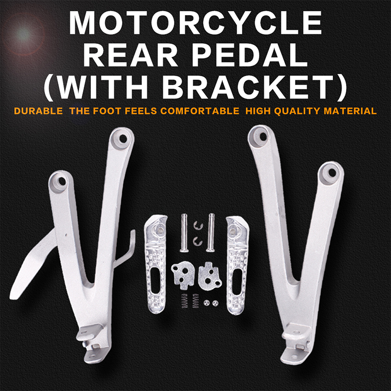 Motorcycle Aluminium Rear Footrests Bracket Kit Foot Pegs Rests Assembly For Honda CBR600 2007 2008 - 2014 CBR600RR F5 07-14 for 2013 2014 honda cbr600rr cbr600 rr f5 motorcycle pillion rear seat cover cowl red 13 14