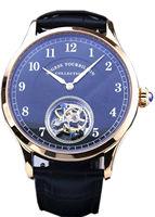 Чайка Tourbillon движение мужские ручной намотки наручные часы Sugess платье Классические роскошные бизнес розовое золото покрытием