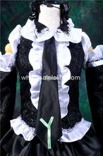 Gothic Black Vocaloid HATUNE MIKU Infinit Cosplay Costume Lolita Channel Ball Gown 4XL For Sale Tea Party Dresses