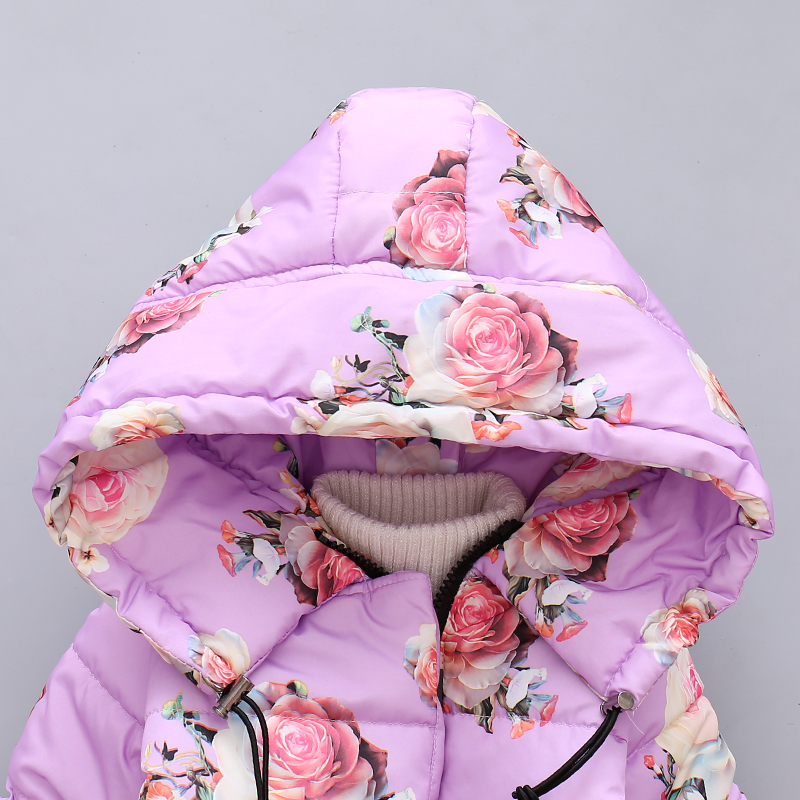LZH Baby Girls Jacket 19 Autumn Winter Jacket For Girls Coat Kids Warm Hooded Outerwear Coat For Girls Clothes Children Jacket 29