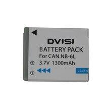 3.7V 1300mah NB 6L NB6L NB 6LH แบตเตอรี่ Li Ion สำหรับ Canon Power shot SX520 HS SX530 SX600 SX610 SX700 SX710 IXUS 85 95 200 210 105