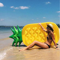 Inflatable Pineapple Pool Float For Adult Water Mattress Swimming Ring Beach Bed Floating Island Party Toys Boia Piscina