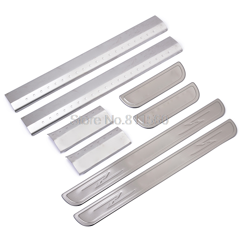 For Nissan QASHQAI 2007-2013 Side Door Sill Protector pedals Scuff Plate Guards Sills Trim Auto Accessories 8pcs/set