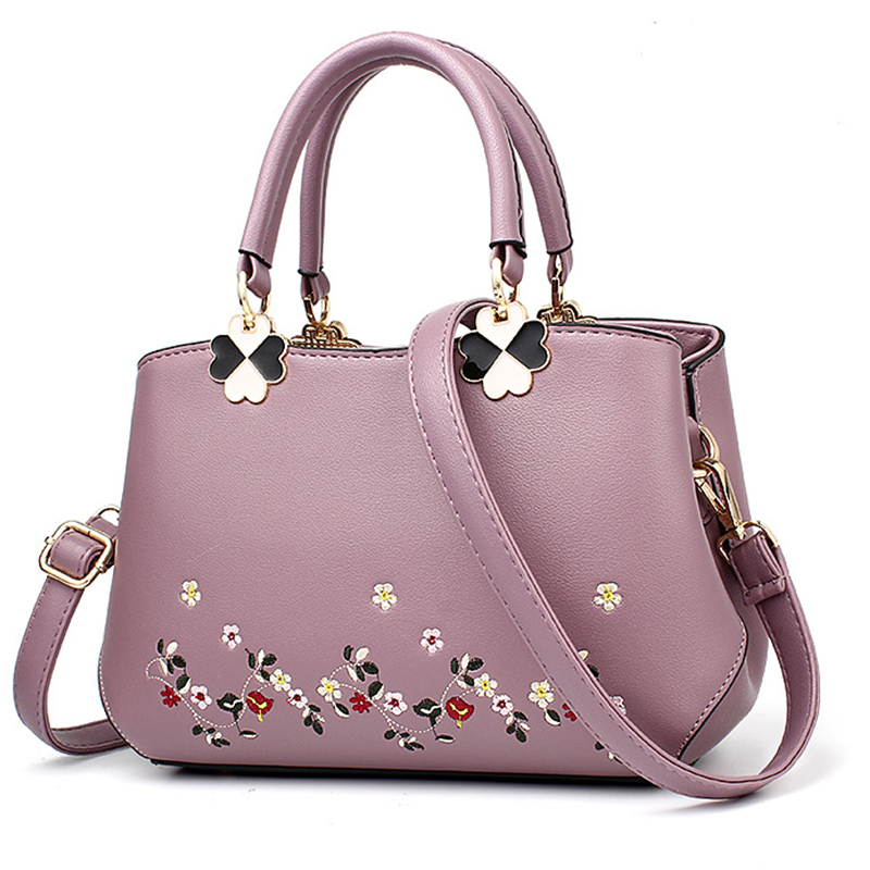 Women Bag Women Leather Handbag Women Shoulder Bag Crossbody Handbag Big Boston Flower Embroideried Rivets Fashion Chinese StyleWomen Bag Women Leather Handbag Women Shoulder Bag Crossbody Handbag Big Boston Flower Embroideried Rivets Fashion Chinese Style