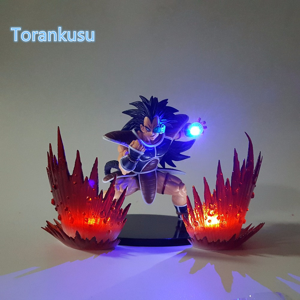 Dragon Ball Z Aksi GambarSuper Saiyan Raditz Kamehameha Led Light DIY - Tokoh mainan