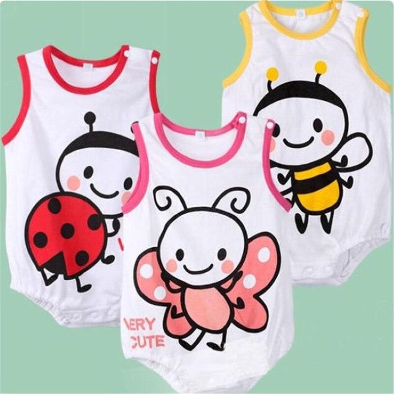 Goldbuddy/, 3 цвета, 9 шт./партия, модные комбинезоны без рукавов для маленьких мальчиков и девочек, комбинезон для младенцев, летние комбинезоны
