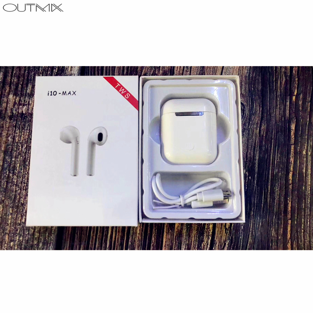 i10 max TWS Mini Wireless Bluetooth Earphone Stereo Earbud Sport Headset Wireless Headphone With Charging Box Mic For Phone in Bluetooth Earphones Headphones from Consumer Electronics