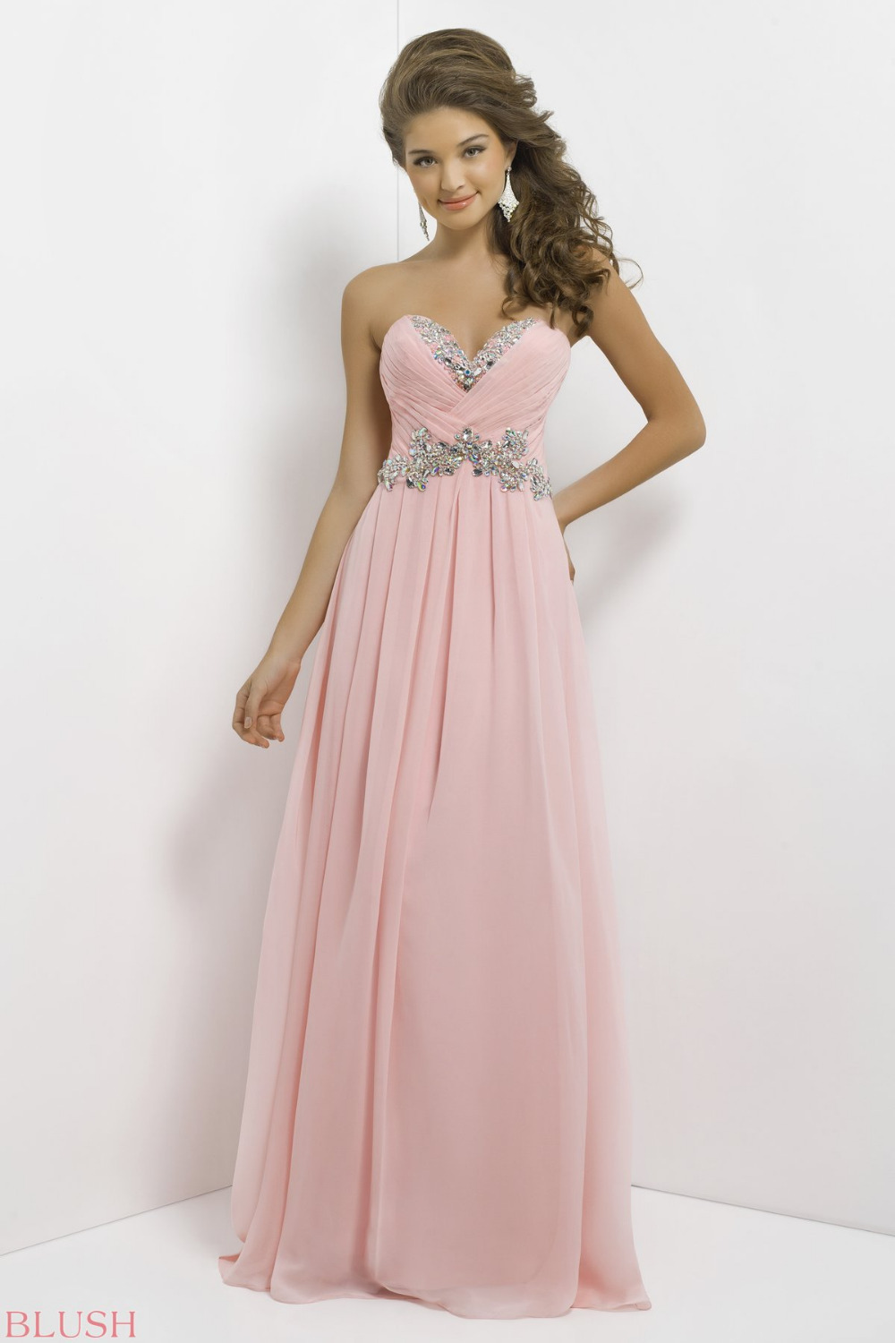 Long Pink Dresses for 8th Grade Graduation