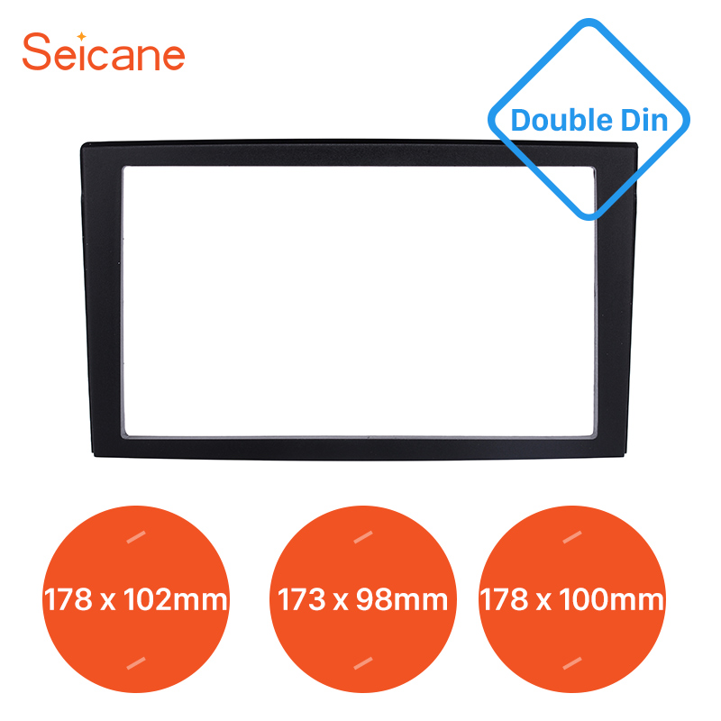 Seicane 2 Din <font><b>Dash</b></font> <font><b>kit</b></font> Cover Trim Audio Frame Car Stereo <font><b>Radio</b></font> Fascia Panel for 2002 <font><b>Mazda</b></font> Premacy 173*98 178*100 178*102mm image