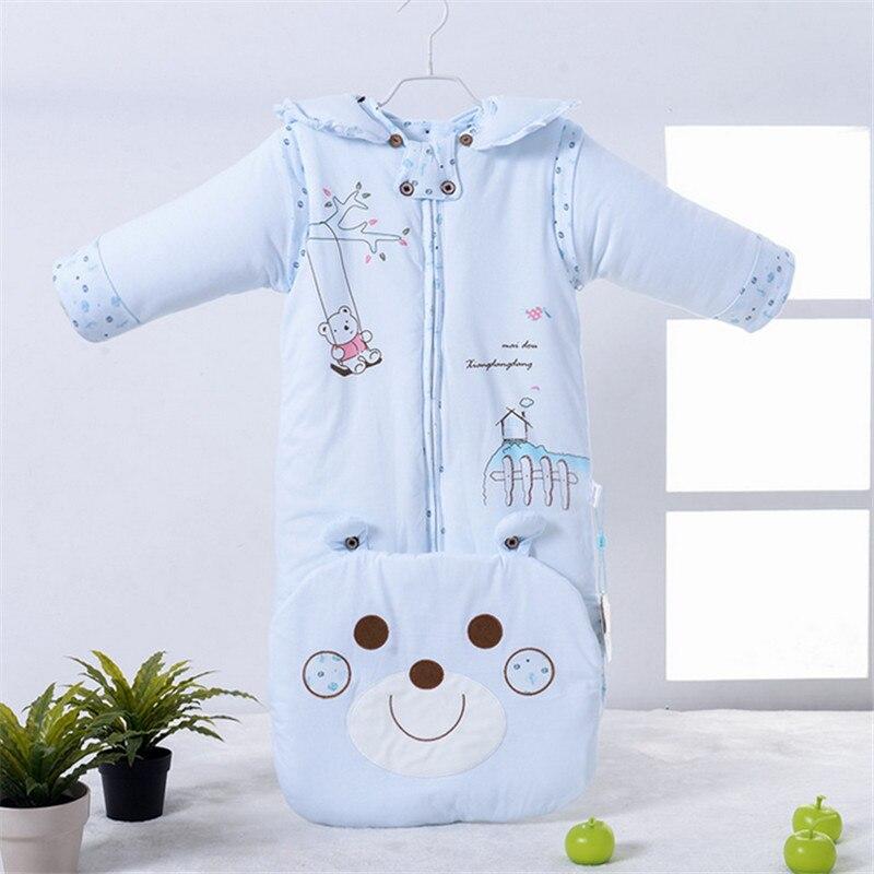 0-24 Unisex baby sleeping bag Cotton baby sack Worsted baby sleeping bag Character children sleeping bag