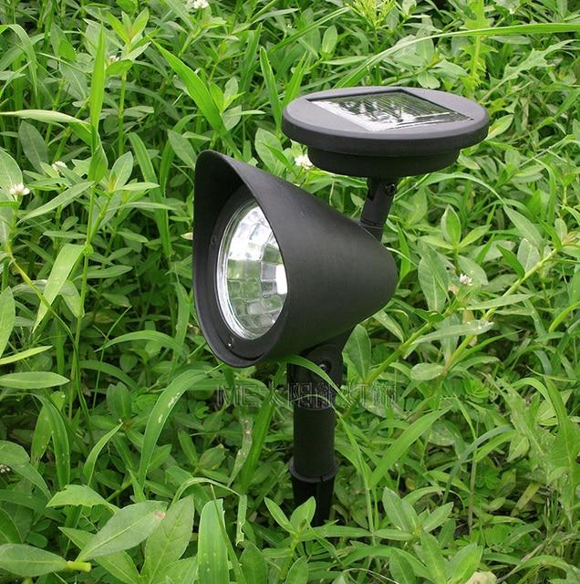 3led solar soptlights  plastic LED landscape garden path spot light 4pcs/lot Free shipping