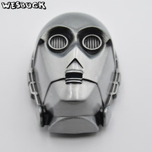WesBuck Brand Avengers Marvel Comics batman Bruce Wayne Superhero Iron Man mask belt buckle(China)
