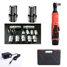 цена Rechargeable Electric Ratchet Wrench 12V Cordless Impact Wrench Lithium-Ion Battery Led Working Light Electric Wrench Power Tool в интернет-магазинах
