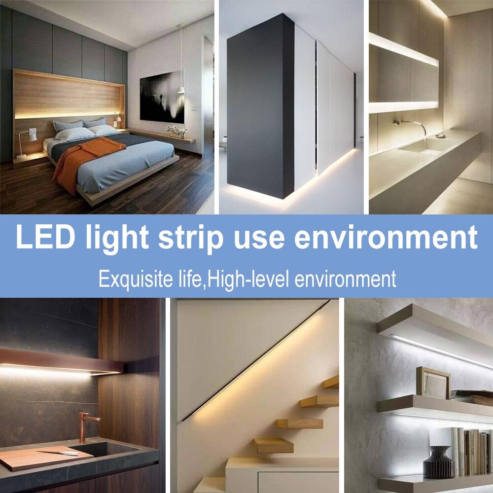 DC 5V USB Strip Light Led Ribbon 2835 SMD Flexible Strip Lamp Tape Led Fita Decor Bedroom TV Desktop Background Bias Lighting in LED Strips from Lights Lighting
