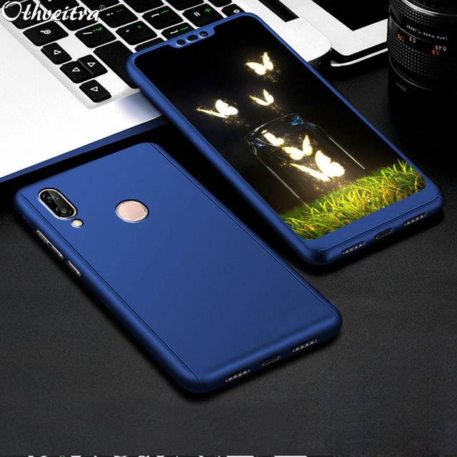 finest selection 29c3a 3499f US $2.84 43% OFF|360 Degree Cover For Huawei Nova 3i P Smart Plus Case  Protective Phone Cases With Tempered Glass Flim Case For Huawei Nova 3-in  ...