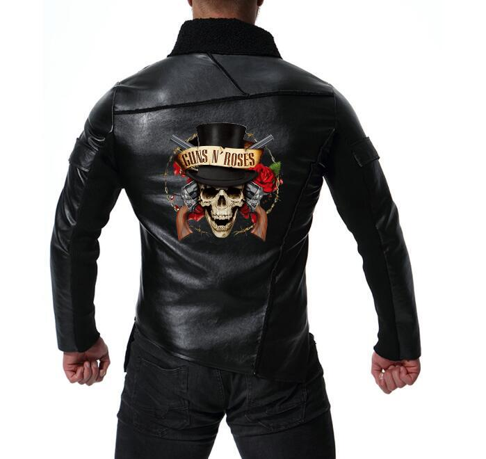 New Men's Locomotive Guns N Roses Leather Jacket Personality