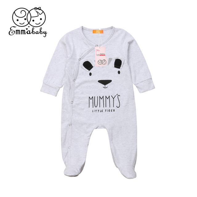 12c4dcfe4ad Emmababy Baby Girls Boys Cotton panda Cartoon Rompers One-Pieces bebe  Sleepsuit Rompers ropa for baby girl clothes