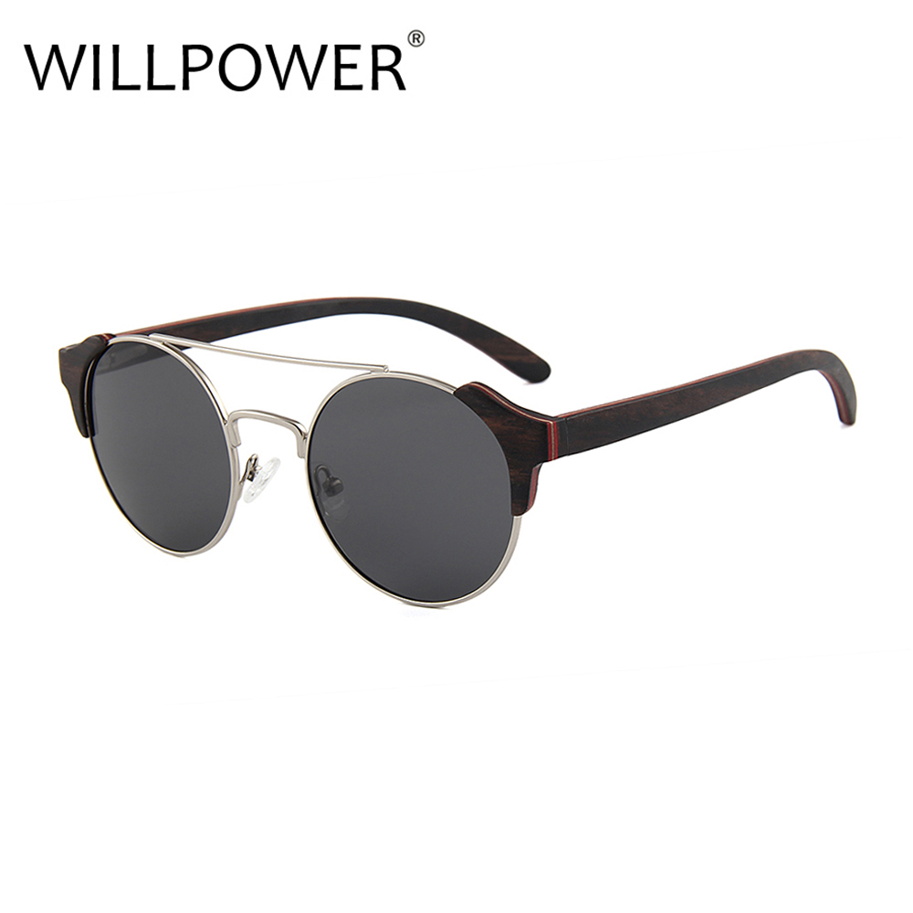 Summer fashionable city glasses party wooden sun glasses men women round sunglasses luxury