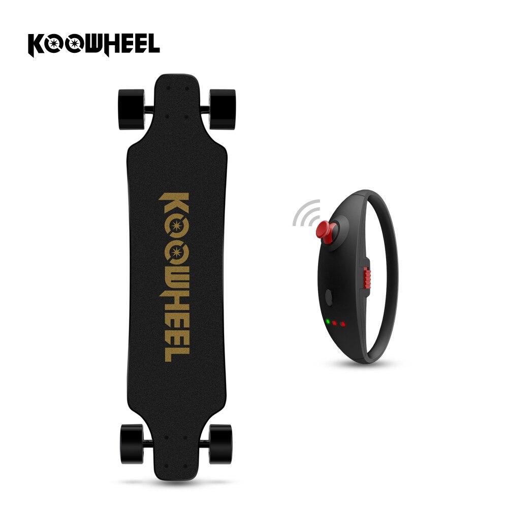 KOOWHEEL 2nd Gen Amélioré Électrique Longboard 42 km/h 4 Roues Électrique Hoverboard Planche À Roulettes Double Moyeu Moteur Électrique Scooter