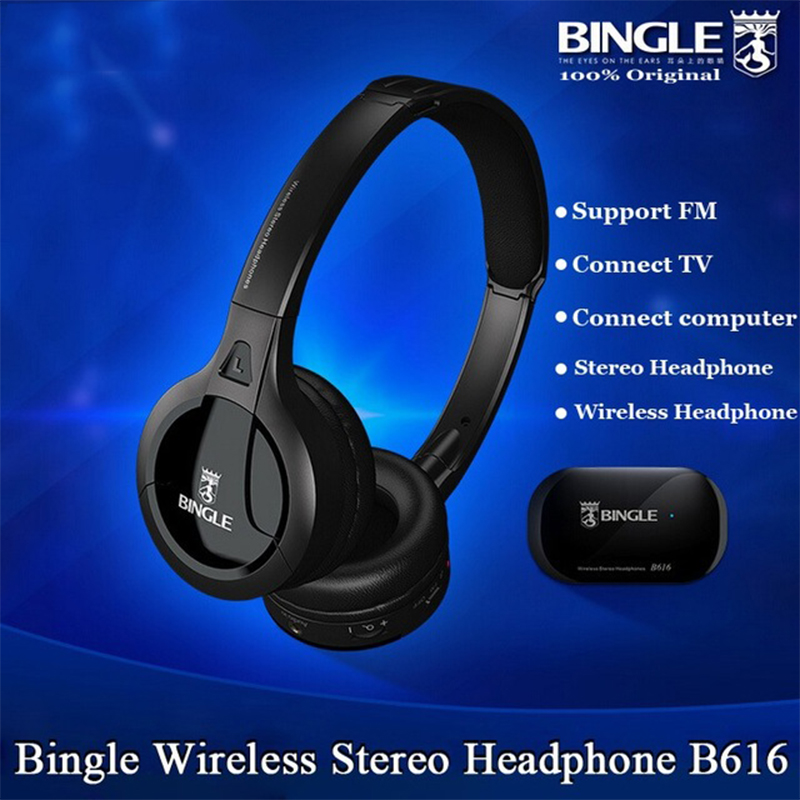цена на New Original Bingle B616 Headphones Multifunction Stereo Wireless with Microphone FM Radio for MP3 PC TV Audio Headset