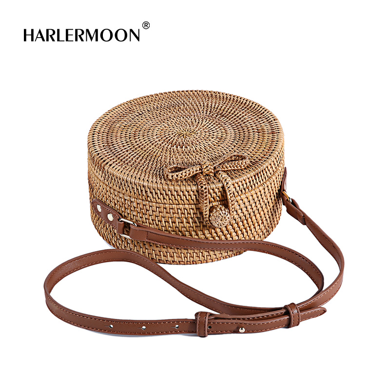 Straw Handbags Women Beach Shoulder Summer Top Handle Crossbody Round Purse Ladies Woven Fashion Crochet shoulder bag handbag аксессуар чехол samsung galaxy note 8 led view cover gold ef nn950pfegru