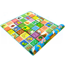 Baby game crawling mat double-sided baby carpet letter + amusement park game pad development pad for baby gifts good little baby crawling mat climb pad double sided pattern of increased moisture thicker section skid game blanket outdoor pad