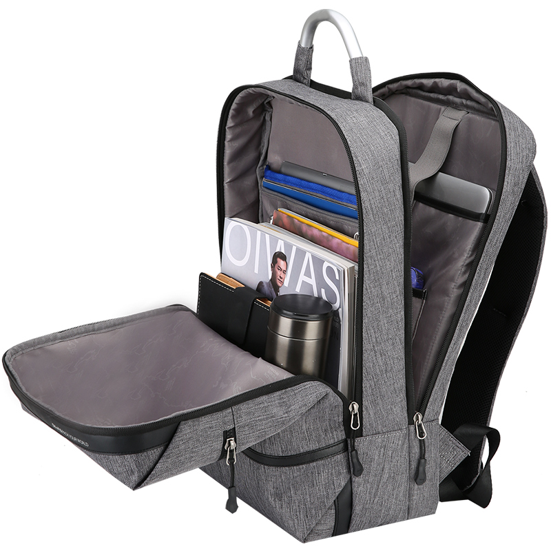 Oiwas Business Shoulder Backpack Alloy Handle Laptop Bag Leisure With Tie Rod Fixing Band Portable For Travel Bag цена и фото