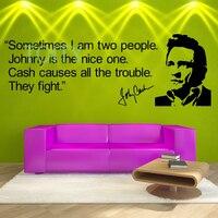 Johnny Cash QUOTE Wall Room Decor Art Vinyl Decal Music Celebrity Sticker Mural M H42cm X