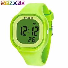 SYNOKE детские цифровые часы для девочек и мальчиков, студенческие часы, Цветной силиконовый светодиодный, цифровые спортивные наручные часы, новинка