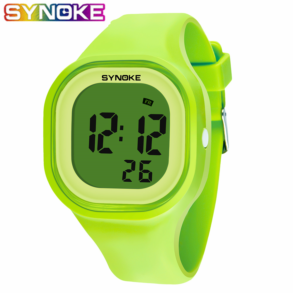 SYNOKE Kids Children's Digital Watch Girls Boy Watches Students Clock Colorful Silicone LED Digital Sport Wristwatches 2019 New