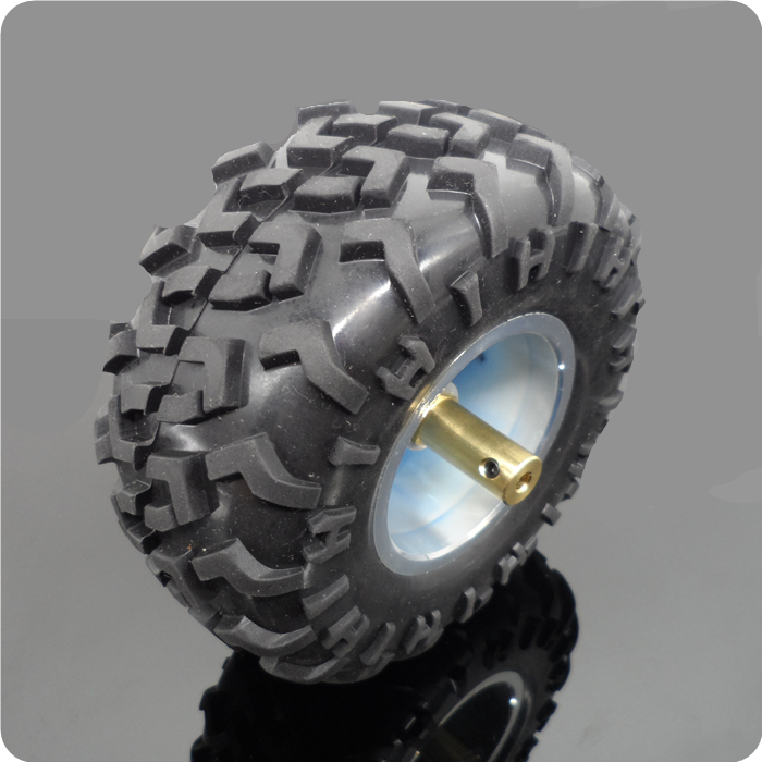 1set 130mm Rubber Wheel Tire 130*60mm Off-road Tyre With 4/5/6mm Hole 12mm Hex Adapter Coupling For Rc Climbing Cars