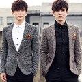 2017 Dos Homens vestuário de moda boutique high-end Dos Homens de negócios terno/Homens britânicos magro Suit casual jacket Cinza vinho marrom vermelho terno