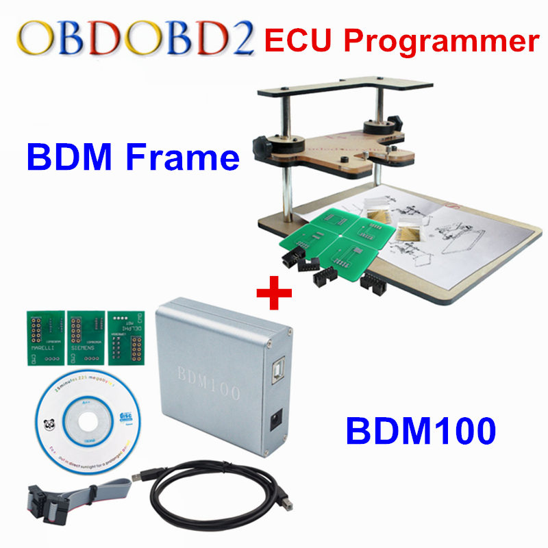 Full Set BDM100 V1255+BDM FRAME OBDII ECU Chip Tuning Programming ECU Reader Tool Works BDM Programmer Full Adapters