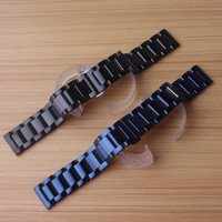Replacement Watchband stainless steel blue black metal Watch strap bracelet 20mm polished Fit Gear S4 men women wrist bands 2018