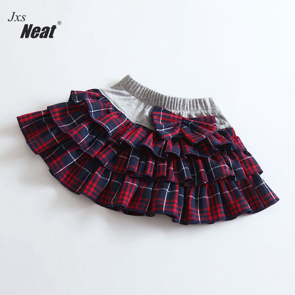 Baby girl summer skirt NEAT pure cotton plaid bow tie girl with skirt girl in skirt fashion simple garden style girl skirt A1041