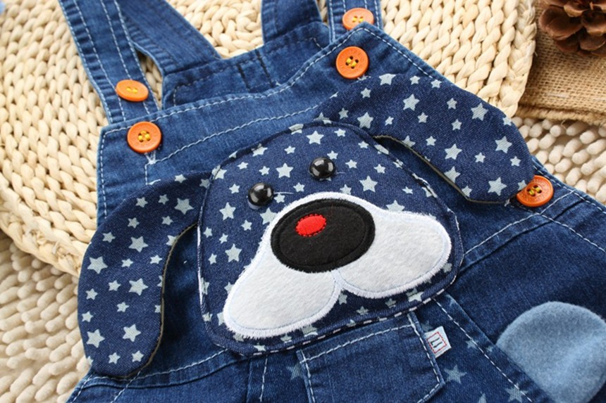 Boys Girls Jeans Overalls Shorts Toddler Kids Denim Rompers