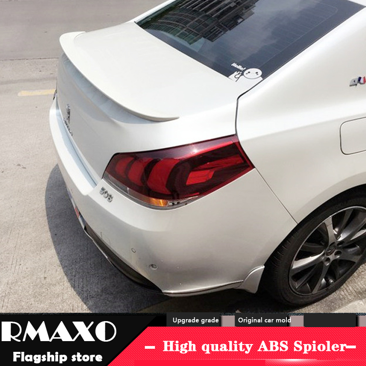 In Short Supply with Led Lamp Abs Primer Car Rear Wing Trunk Lip Spoiler For Citroen C4 C4l 2011-2017