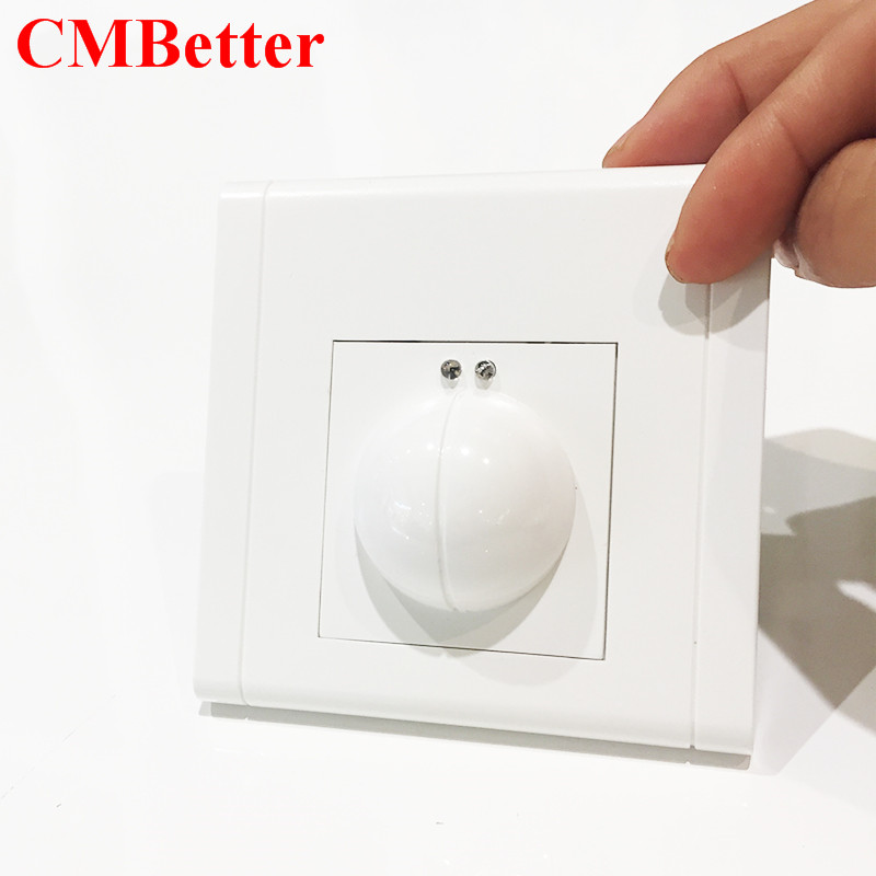 CMBetter microwave Sensor Light Switch Motion Detector Light Switch AC 220V-240V Body Motion Detector Smart Light Switch xsav11801 inductive proximity switch speed sensor motion rotate detector 0 10mm dc ac 24 240v 2 wire 30mm replace telemecanique