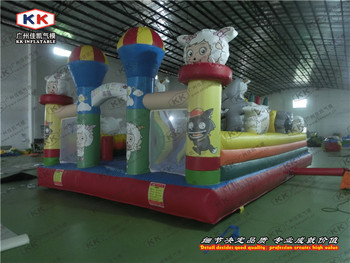 garden inflatable gaint cheaper cartoon inflatable games fun city