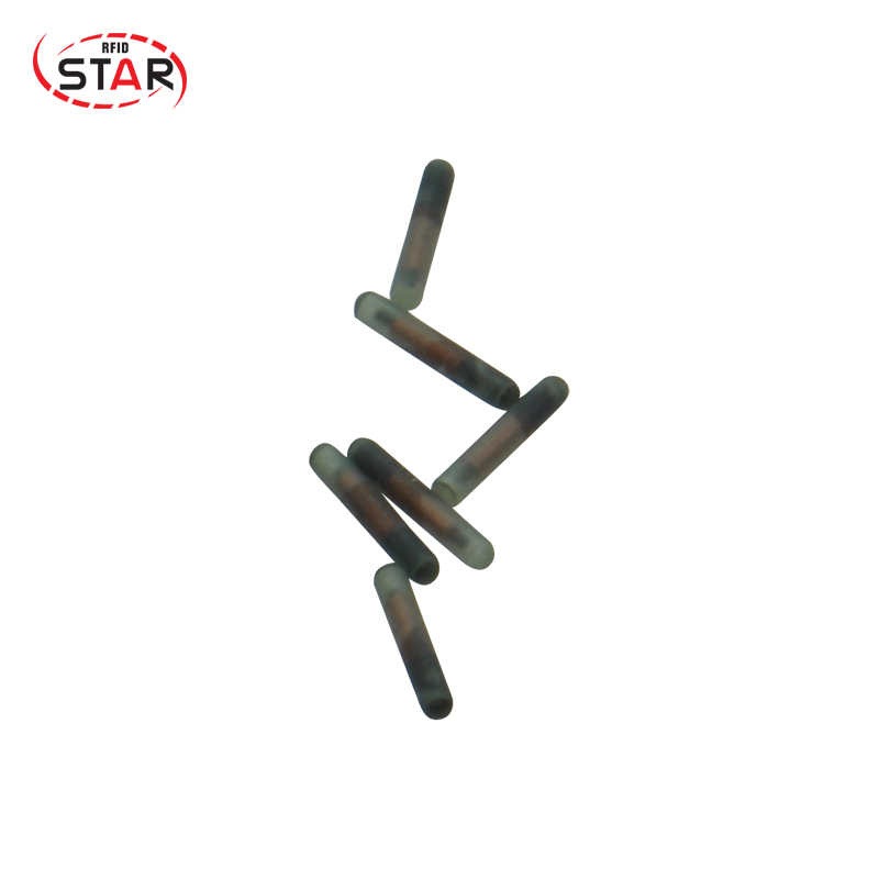 100pcs 1.25*7mm Smallest Microchips 134.2khz Animal Id Rfid Glass Tag For Animal Pets/fish/horse/Snake Tracking/identification